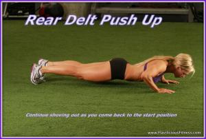 Rear delt Push up